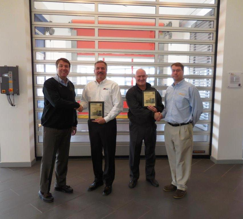 & Action Door Company Receives 2015 Gold Performance Award