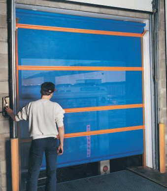 Roll Up Screen Door Model SC-100 Automatic Roll-Up Barrier & Automatic Roll-Up Barriers
